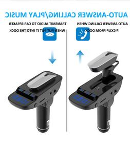 2IN1 Headphone+FM Transmitter Wireless Bluetooth USB Charger