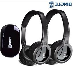 2Pack Radio Function Surround Sound Cordless Headsets Earpho