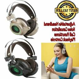 3.5mm Bluetooth Gaming Headphone Stereo Headset Headband Wit