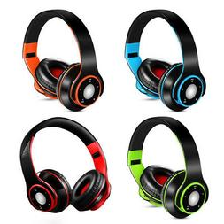 4in1 Foldable Wireless Bluetooth Stereo Bass Over-ear EDR He