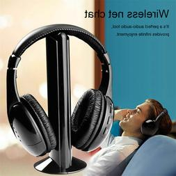 5 In 1 Stereo Headset Wireless FM Radio Wired Earphone For P