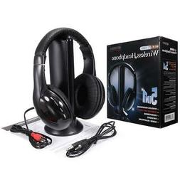5 in 1 stereo wireless headset headphone