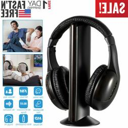 5 in 1 wireless headphones headset cordless