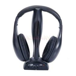 8in1 Wireless Headphone Headset for FM Radio Mp3 Mp4 TV DVD