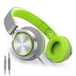 AILIHEN C8 Foldable Headphones with Microphone and Volume Co