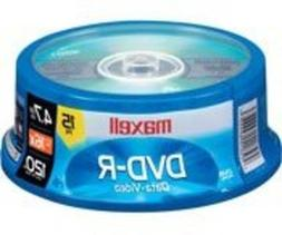 Maxell 638006 DVD-R 4.7 Gb Spindle with 2 Hour Recording Tim