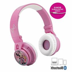 Minnie Mouse Bluetooth Headphones for Kids Wireless Recharge