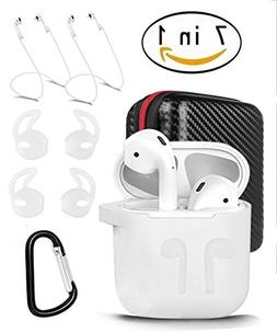 AirPods Case 7 in 1 Airpods Accessories Kits Protective Sili