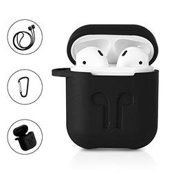 AirPods Protective Case, 3 in 1 Silicone Headphones Accessor