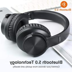 B8 Bluetooth 5.0 Headphones 40H Play time Touch Control Wire