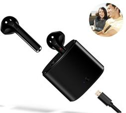 Black Wireless Bluetooth Ear Bud In Ear Pods & Charging Case