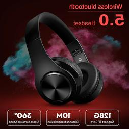 ❤ bluetooth 5.0 Headset Foldable Earphones Super Bass Ster