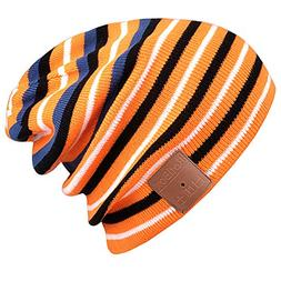 Bluetooth Beanie Hat,Mydeal Slouchy Skully Strip Cap with Wi