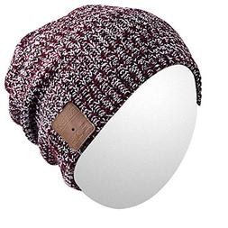 Qshell Outdoor Bluetooth Beanie Hat Slouchy Knit Skully Cap
