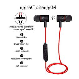 Bluetooth Earphones,Earbuds Magnetic Wireless Headset Sweat-