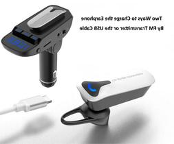 Bluetooth FM Transmitter MP3 Player Charger+Outdoor/In Car H