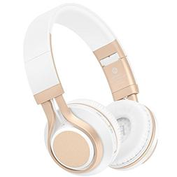 Bluetooth Headphones with Mic, HiFi Stereo Foldable Lightwei