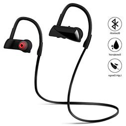 Bluetooth Headphones, Wireless Sports Earphones w/Mic, HD St