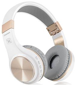 Bluetooth Headphones, Riwbox XBT-80 Folding Stereo Wireless