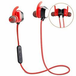 Bluetooth Headphones, YYQ Wireless 4.2 Magnetic Earbuds Magn
