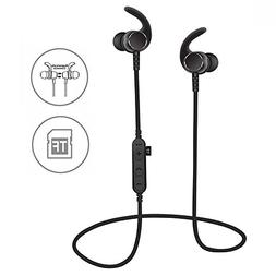 SYL Bluetooth headphones with TF SD card slot and Clip, swea