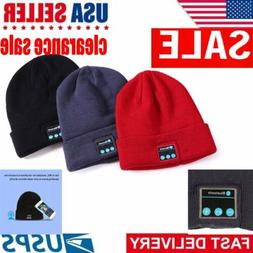 Bluetooth Music Warm Beanie Hat Wireless Cap Headset Headpho
