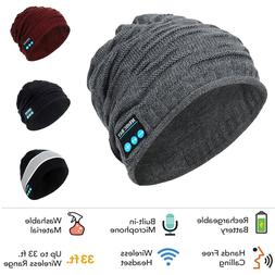 Bluetooth Music Warm Beanie Hat Wireless Smart Cap Headset H