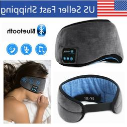 Bluetooth Sleeping Eyemask Soft Blindfold with Headphones Wi