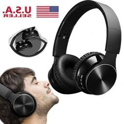 Bluetooth Wireless Headset with Mic and Wired Mode Foldable