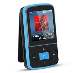 AGPTEK 16GB Clip MP3 Player with Bluetooth 4.0, Wearable Por