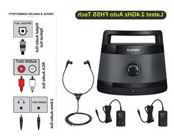 Digital Wireless TV Speaker Portable Audio Assistance with O