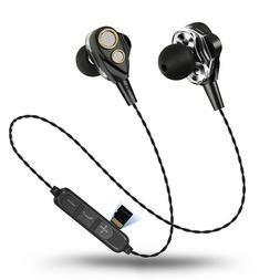 Dual Driver Bluetooth headphone with TF SD Card Slot Wireles