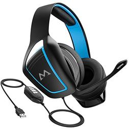 Mpow EG1 Gaming Headset, 7.1 Surround Sound, Dual 60mm Power