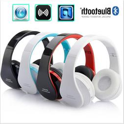 Foldable Wireless Bluetooth Mic Headphones Stereo Earphones