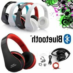 Foldable Wireless Bluetooth Stereo Headset Headphones Mic fo
