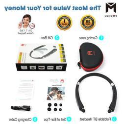 G1 Wireless Bluetooth Headset Retractable and Foldable Neckb