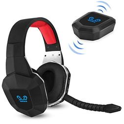 HUHD Wireless Stereo Gaming Headset 2.4GHz Optical Game Head