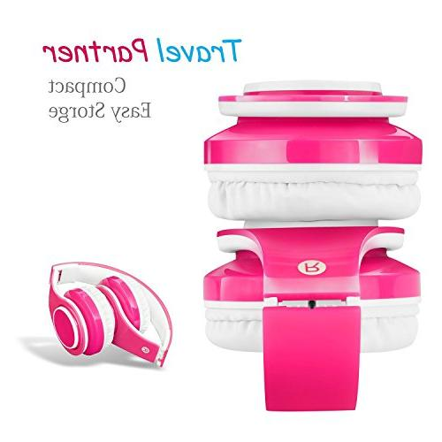 2018 Bluetooth for Kids, 85db Volume Limited, up to Hours Play, Sound, SD Over-Ear and Headphones Boys Girls