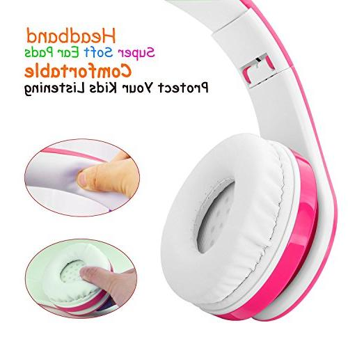 2018 New! for Kids, Volume Limited, up to Hours Stereo SD and Mic Wireless/Wired Headphones Boys