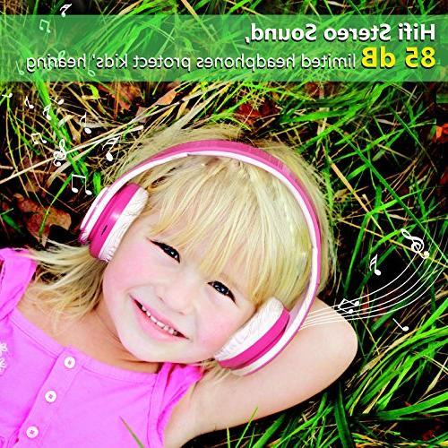 2018 for Kids, 85db Hours Play, SD Card and Mic Headphones for