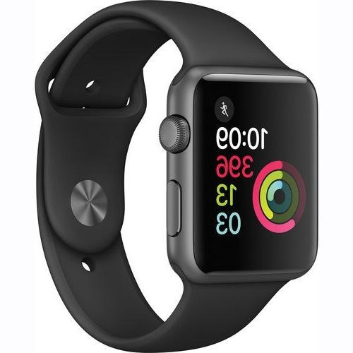 Apple Watch Series 1 Smartwatch 42mm, Space Gray Aluminum Ca