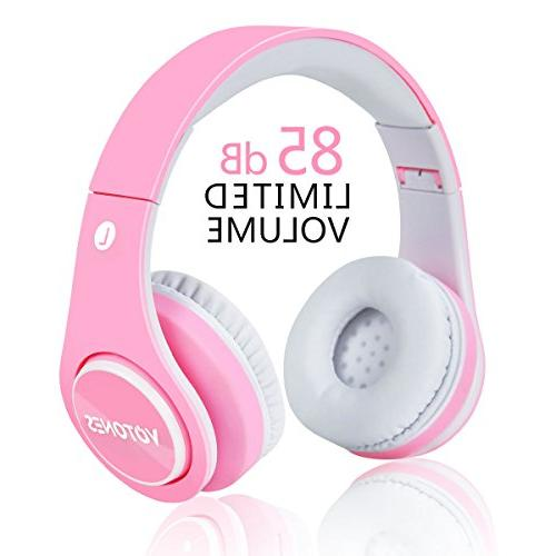 Girls Wireless Bluetooth Headphones,VOTONES 85dB Volume Limi