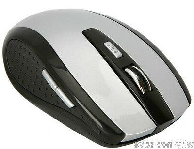 Grey Wireless Optical mouse Mini + usb receiver for Dell Tos