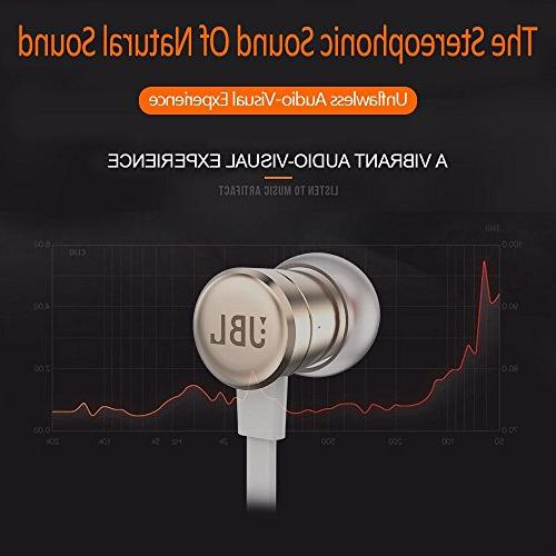 JBL Harman T290 Pure Bass Sports Wired Headphons - Rose Gold