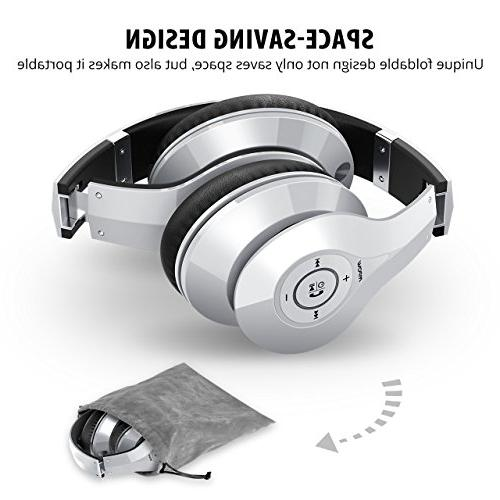 Mpow 059 Over Ear, Stereo Wireless Memory-Protein Earmuffs, and Mode PC/Cell