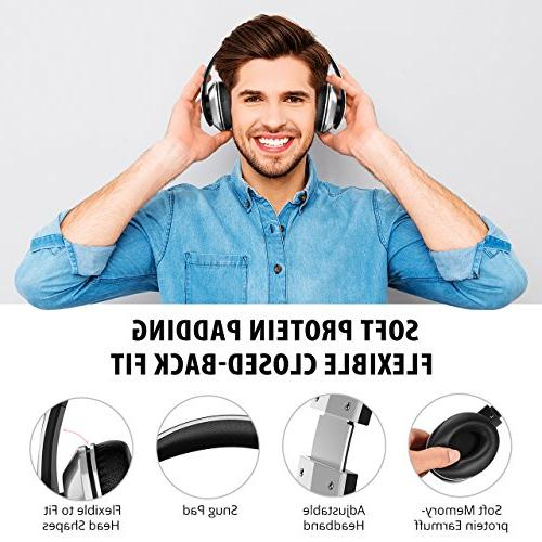 Mpow 059 Over Hi-Fi Wireless Headset, Memory-Protein w/Built-in Mic and Wired Mode PC/Cell