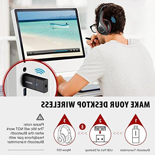 Mpow TV Bluetooth Headphones Transmitter & Set, Play, Foldable, Light Protable, Headset Phones/PC