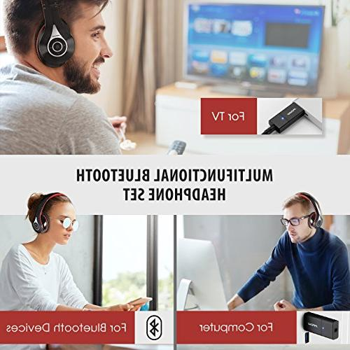 Mpow Headphones, 059 Bluetooth Headphones Transmitter Set, & Play, Foldable, Weight Protable, Hi-Fi Wireless Headset for TV/Cell