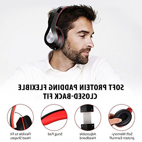 Mpow Headphones, Bluetooth Headphones Transmitter Set, Plug Foldable, Weight Protable, Hi-Fi Stereo Headset for
