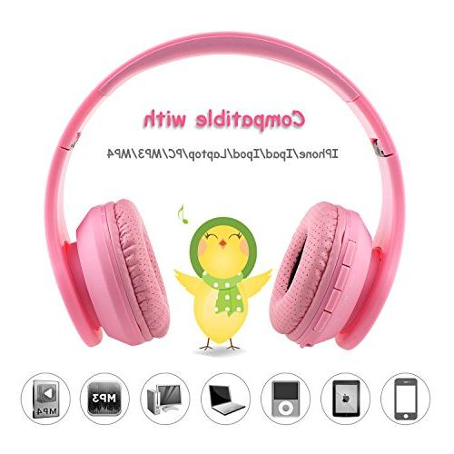 Stereo Sound AUX Jack SD Mic Game Pink
